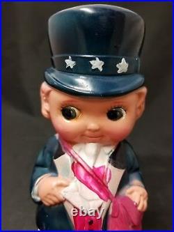 Rare Vintage 1930's Baby Uncle Sam Celluloid Mailman
