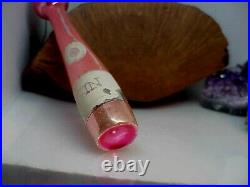 Rare Vintage Christmas Mercury Glass Pin Gin Bottle Ornament Tall Czechoslovakia