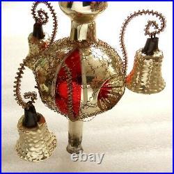 Rare Vintage German Glass GDR Christmas Ornament Xmas Decoration Old Tree Top