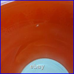 Rare Vintage Pyrex CHRISTMAS Bowl Red with White #325 2.5 Quart HTF