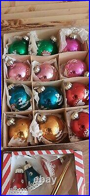 SOVIET VINTAGE RETRO Christmas NEW YEAR tree decorations GDR German. USSR 1970s