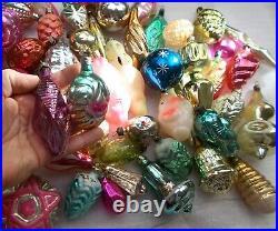 Set 51 Antique Vintage Silver Glass Ussr Christmas Xmas Ornaments Decorations