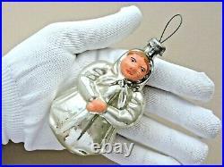 Soviet Christmas ornament Old Woman USSR Russia Xmas Decor Vintage Very Rare