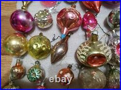 USSR 40 christmas ornament glass vintage toys Soviet decorations New Year