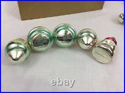 VTG Shiny Brite Mercury Glass Ornaments 12 Lanterns Bells In Original Box