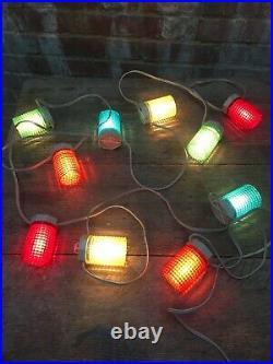 Vintage 10x Narva PK10 Large Christmas Tree Lantern Lights Decorations Working