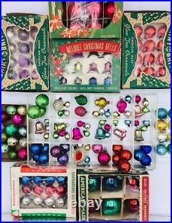 Vintage 140 Feather Tree Christmas Ornaments Boxes Tiny German Japan USA