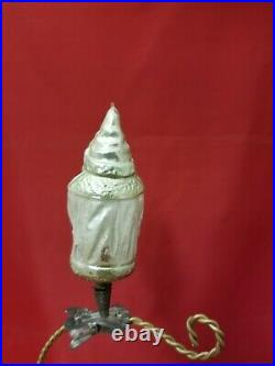 Vintage 1920's German Father Christmas with a Basket on Clip Glass Ornament