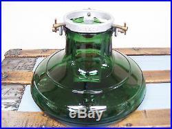 Vintage 1930-40 GLASS Aluminum CHRISTMAS TREE STAND Bulach Switzerland Green