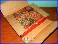 Vintage 1938 Doubl-Glo Snow White & 7 Dwarfs Glass Christmas Ornament Set In Box