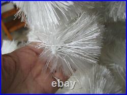 Vintage 1950's RARE Kirks 5 Foot Snow Puff Flossed Glass White Christmas Tree
