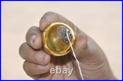 Vintage 2.75 Golden Egg/Oval Shape German Original Christmas Glass Kugel