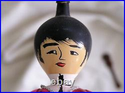 Vintage 60's Beatles Figural Glass Christmas Ornament John Paul George 6