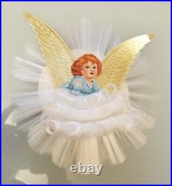 Vintage Angel Hair Spun Glass Tree Topper