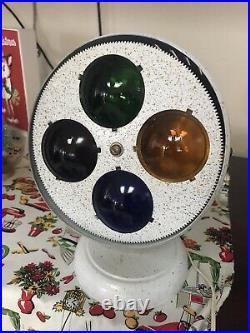 Vintage Bullet Shaped Color Wheel, Glass Lens, Aluminum Christmas Tree, Prisma