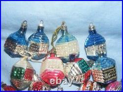 Vintage Christmas Glass Tree Decoration Ornament Baubles Antique Glass x 19