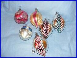 Vintage Christmas Glass Tree Decoration Ornament Baubles Large Concave RARE
