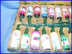 Vintage Christmas Lights Milk Glass Bulbs Boxed OLD Lanterns