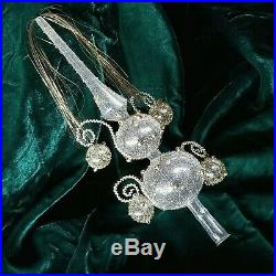 Vintage Christmas TREE TOPPER Mercury Blown Glass Gold Bead Wire Wrapped Germany