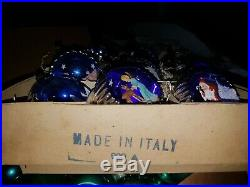 Vintage Christmas Tree Diorama Ornaments Italian 9/10 IOB