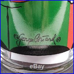 Vintage Georges Briard Highball Cocktail Glasses Christmas Nutcracker Set of 4