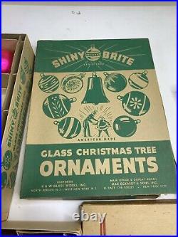 Vintage Glass Christmas Tree Ornaments Balls Lot Bundle