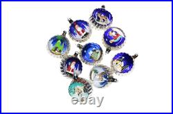 Vintage Italian Ornaments, Italian Diorama Ornaments, Italy Ornaments