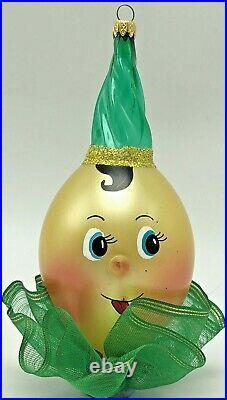 Vintage Italy Glass Pinocchio Clown De Carlini Christmas Ornament Decoration