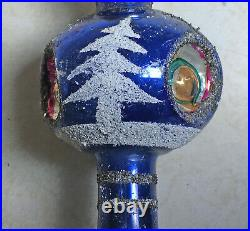 Vintage Mercury Glass Christmas Tree Topper With Box