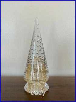 Vintage Murano Glass Barbini Controlled Bubble Gold Christmas Tree