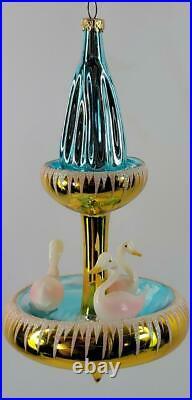 Vintage Radko Italian SWAN FOUNTAIN 94-278-0 Extremely Rare Gold Version