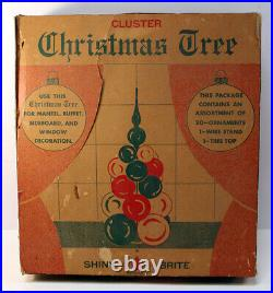 Vintage Shiny Brite Cluster Christmas Tree Centerpiece 1950's Red USA Made