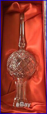 Vintage Waterford Crystal Tree Top Topper Xmas Ornament Star Ireland 2-Day Ship