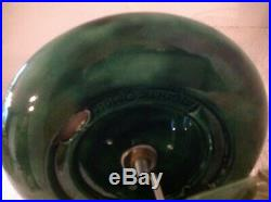 Vtg 22 Atlantic Mold Ceramic Lighted Christmas Candle Stain Glass Poinsettia