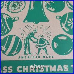 Vtg Shiny Brite Christmas Ornaments Indent Flocked Mercury Glass Mica Large Box