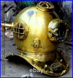 X-Mas 18 Inch Us Navy Diving Helmet Mark V Deep Sea Divers Helmet Vintage Re