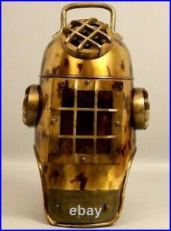 X-Mas Vintage Us Navy Diving Divers Helmet Solid Steel Full Size 18 Inch